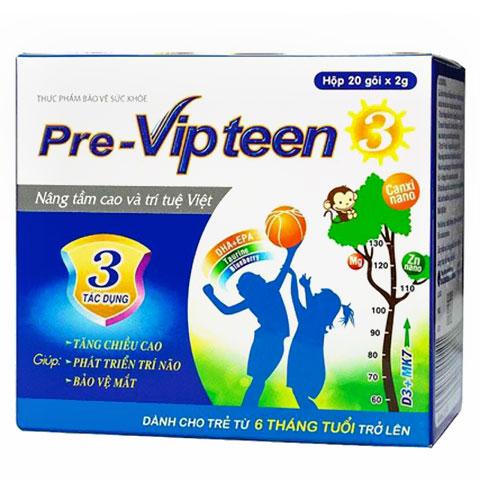 Pre-VIPTEEN 3, Tăng chiều cao cho trẻ, xương chắc khỏe