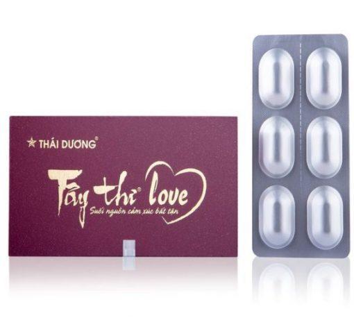 Tây Thi Love hộp 6 viên, Tăng nội tiết tố nữ, cải thiện sinh lý