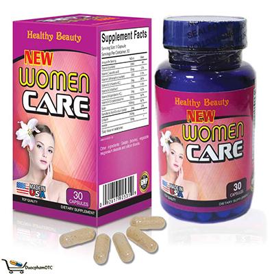 Thực phẩm bảo vệ sức khỏe viên uống New Women CARE là viên uống chống lão hóa da, bổ sung vitamin và các khoáng chất cho cơ thể, giảm nếp nhăn, chảy xệ da, cho da săn chắc và trắng hồng, Viên uống New Woman Care dành cho phụ nữ trên 18 tuổi có nhu cầu làm đẹp cho cơ thể