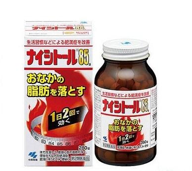 Viên uống giảm béo Naishitoru 85 Kobayashi 280 viên