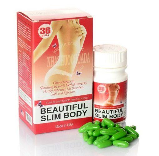 Viên uống giảm cân Beautiful Slim Body USA chính hãng