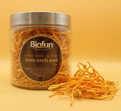 Đông trùng hạ thảo Biofun, Đông trùng hạ thảo sinh khối khô 10g chính hãng