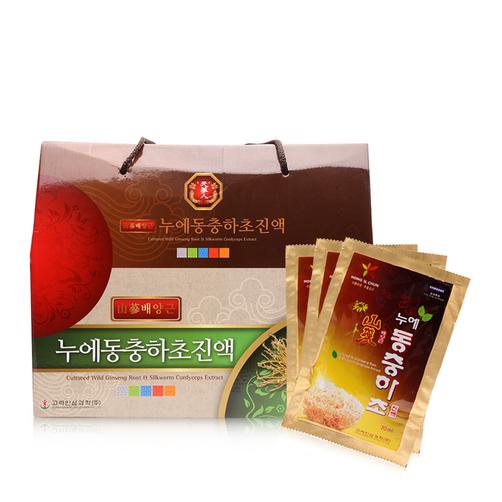 Đông trùng hạ thảo Hàn Quốc Culture Wild Ginseng Root & Silkworm Cordyceps hộp 30 Gói chính hãng