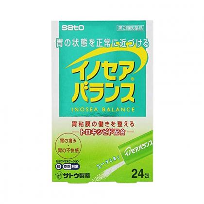 Bột uống Sato Inocair Balance hỗ trợ điều trị dạ dày loại 24 gói chính hãng