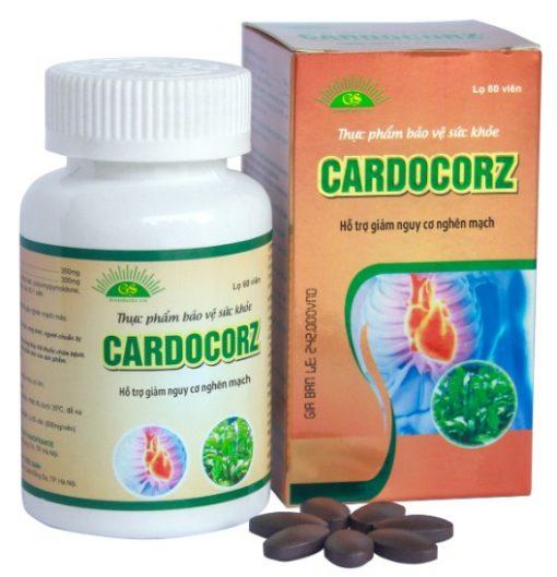 CARDOCORZ, Giảm cơn đau thắt ngực, hỗ trợ lưu thông máu