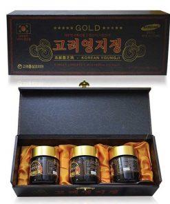 Cao linh chi Đen Hàn Quốc chính hãng hộp gỗ 3 lọ thượng hạng