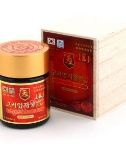 Cao linh chi Hàn Quốc Korean Lingzhi Extract Gold chính hãng Hộp gỗ 4 hộpx100g