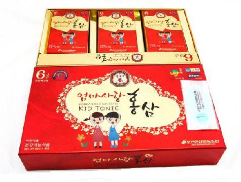 Hồng Sâm Baby Kid Tonic Hàn Quốc 20ml x 10, Hồng sâm trẻ em Baby Kid Tonic chính hãng