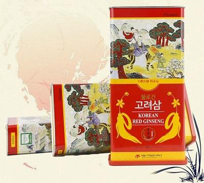 Hồng sâm củ khô Daedong Korea Ginseng Hàn Quốc loại 300gr chính hãng