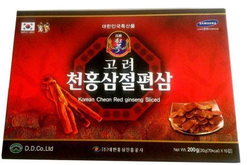 Hồng sâm lát 6 năm tuổi tẩm mật ong Cheon Red Ginseng chính hãng