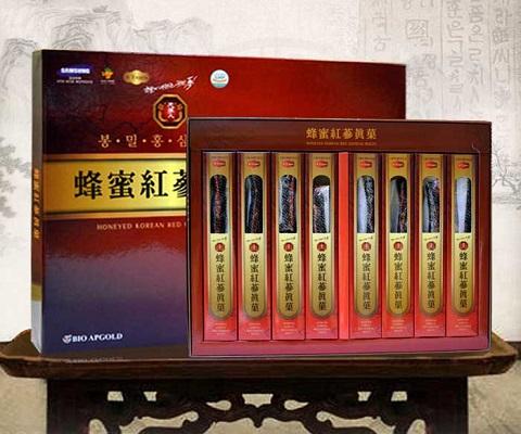 Hồng sâm tẩm mật ong Honeyed Korean Red Ginseng Hàn Quốc 200g chính hãng