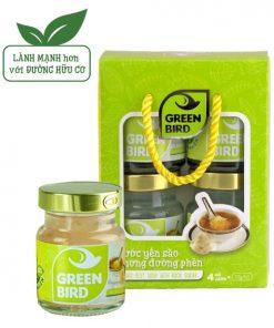 Lốc Green Bird, Nước Yến Sào Chưng Đường Phèn Nutri Nest loại 4hũ72g