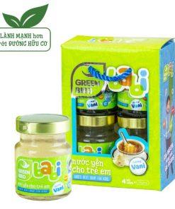 Lốc Green Bird trẻ em, Nước Yến Cho Trẻ Em Nutri Nest Hương Vani 4hũ72g