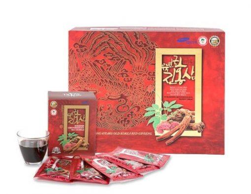 Nước hồng sâm linh chi Twfood Hàn Quốc chính hãng hộp 70 ml x 60 gói