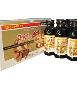 Nước Linh Chi Bio Apgold Drink Hàn Quốc, Nước giải khát nấm Linh Chi loại hộp 10 Chai chính hãng