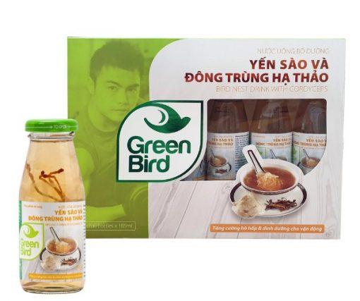 Nước Uống Bổ Dưỡng Yến Sào và Đông Trùng Hạ Thảo Green Bird Nutri Nest 6 chai185ml