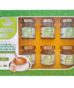 Nước Yến Sào Chưng Đường Kiêng Củ Cải Nutri Nest Lốc Green Bird 6hũ72g