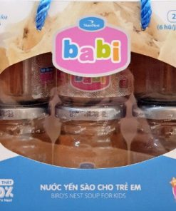 Nước Yến Sào Cho Trẻ Em Sợi Yến Thật 100% Lốc Babi 6 hũ 42g