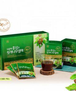 Nước hồng sâm bổ gan Hovenia Daedong Hàn Quốc loại 30 gói x 50ml chính hãng