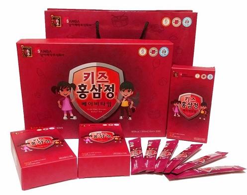 Nước hồng sâm baby Sanga Hàn Quốc loại 20ml x 30 gói chính hãng
