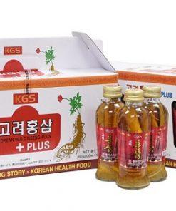 Nước hồng sâm có củ KGS Hàn Quốc loại 120ml x 10 chai chính hãng