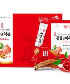 Nước hồng sâm lựu collagen Daedong Hàn Quốc loại 30 gói chính hãng