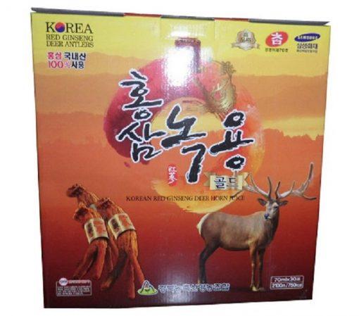 Nước hồng sâm nhung hươu Gyeongbuk Hàn Quốc hộp 30 gói x 70ml chính hãng
