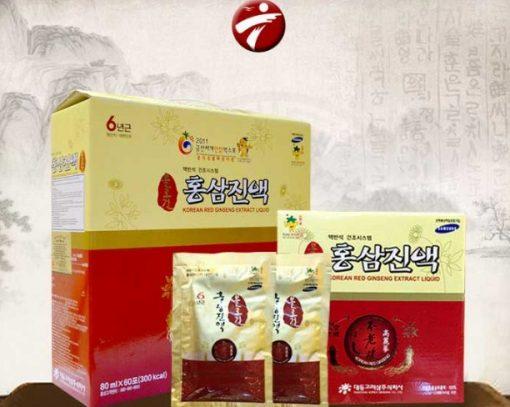 Nước tinh chất hồng sâm Daedong Hàn Quốc hộp giấy 60 gói cao cấp thượng hạng