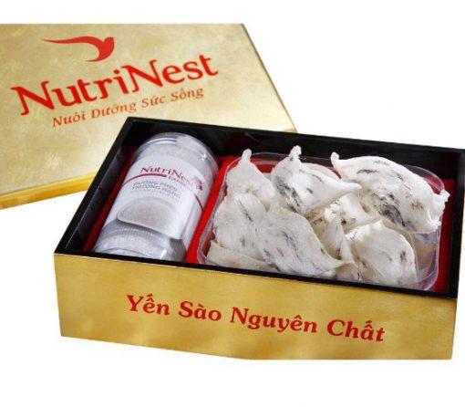 Tổ Yến Sào Góc Thô Còn Nguyên Lông 50, Yến sào nguyên lông Nutri Nest