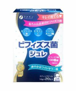 Thạch men vi sinh Fine Japan Bifidobacteria Jelly Nhật Bản loại Hộp 20 gói x 10g chính hãng
