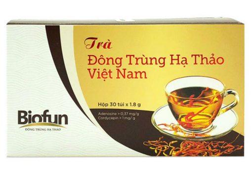 Trà đông trùng hạ thảo Biofun Việt Nam hộp 30 gói chính hãng