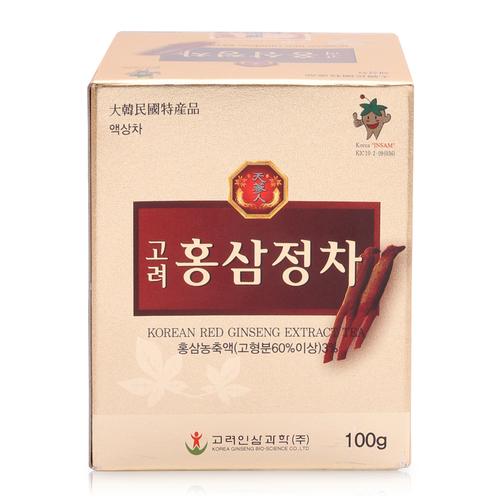 Trà Cao hồng sâm Hàn Quốc Korean Red Ginseng Extract Tea 100g chính hãng
