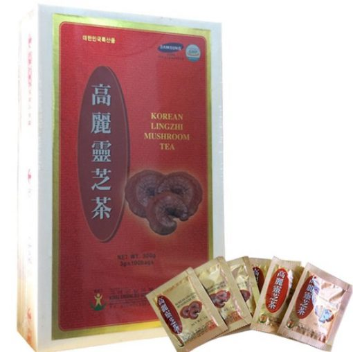Trà Linh Chi Bio ApGold Hàn Quốc hộp gỗ loại 100 gói x 3g chính hãng