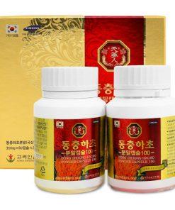 Viên đông trùng hạ thảo Bio Powder Capsule Hàn Quốc 60 viên chính hãng