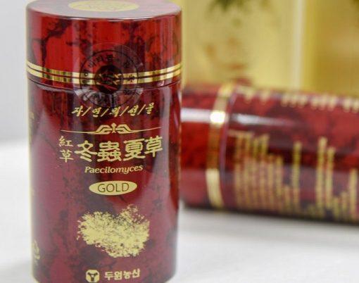 Viên đông trùng hạ thảo Duwon màu đỏ loại 2lọ1100gr chính hãng