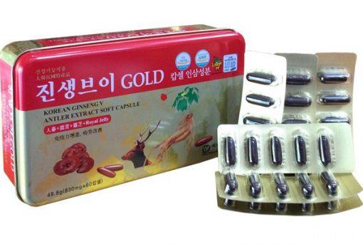 Viên đạm sâm nhung linh chi Hàn Quốc Ginseng Gold 120 viên chính hãng