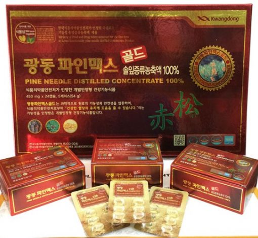 Viên Tinh Dầu Thông Đỏ Kwangdong Hàn Quốc 120 viên chất lượng chính hãng