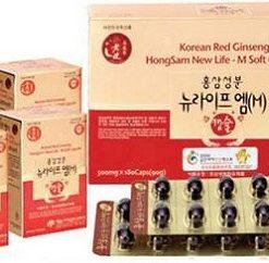 Viên hồng sâm tăng cường sinh lý Hàn Quốc Hongsam new life chính hãng 180 viên