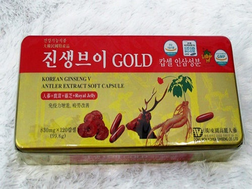 Viên uống sâm linh chi lộc nhung Hàn Quốc chính hãng 60 viên