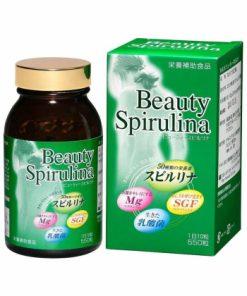 Tảo xoắn Nhật Bản Algae Beauty Spirulina 550 viên chính hãng