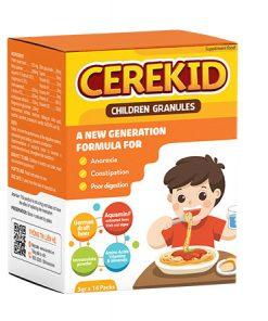 Cerekid trẻ hết biếng ăn, không lo táo bón