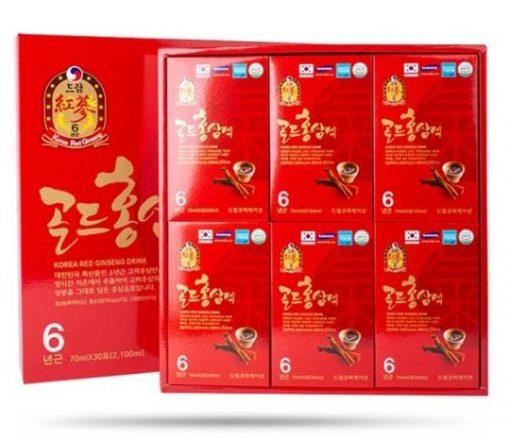 Nước uống hồng sâm 6 năm tuổi Hanmi Korea Red Ginseng Nuljayoun