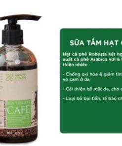 Sữa tắm khử mùi cơ thể Cocayhoala từ hạt Arabica thơm mùi cà phê 300g chính hãng
