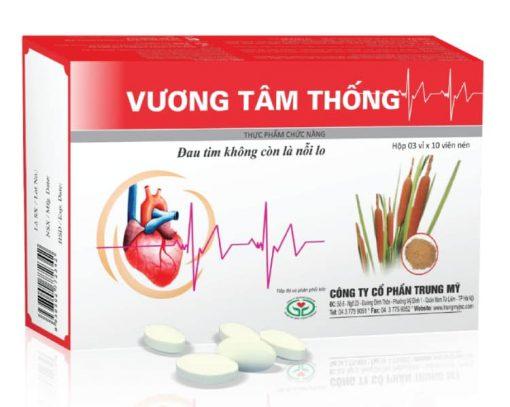 Viên uống Vương Tâm Thống hỗ trợ điều trị bệnh mạch vành, xơ vữa động mạch